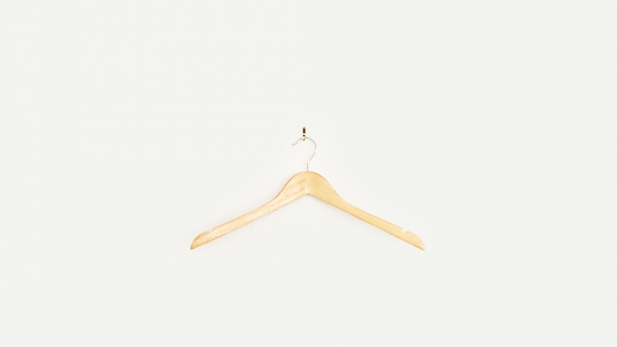 Picture of wood clothing hanger